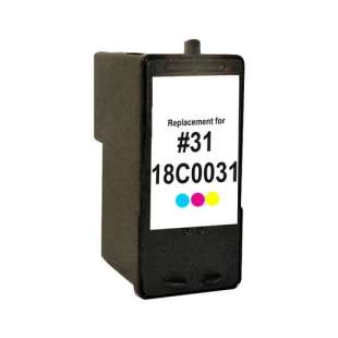 Remanufactured Lexmark 18C0031 (#31 ink) high quality inkjet cartridge - photo