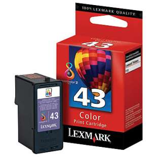 Original Lexmark 18Y0143 (#43XL ink) high quality inkjet cartridge - high capacity color