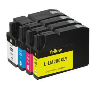 Remanufactured high quality inkjet cartridges Multipack for Lexmark #200XL - 4 pack