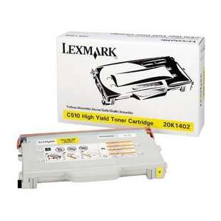 Original Lexmark 20K1402 toner cartridge - high capacity yellow