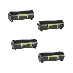 Remanufactured Lexmark 50F0U0G (501UG) toner cartridges - TAA black ultra high yield - 4-pack