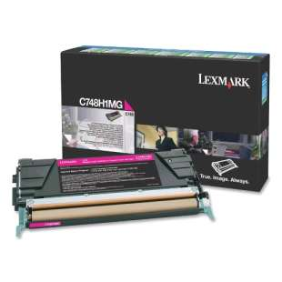 Original Lexmark C748H1MG toner cartridge - high capacity magenta
