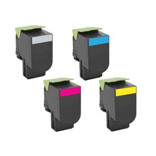 Remanufactured Lexmark 70C1XK0, 70C1XC0, 70C1XM0, 70C1XY0 toner cartridges - 4-pack