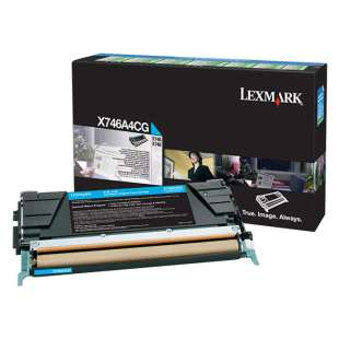 Original Lexmark X746A4CG toner cartridge - government TAA cyan