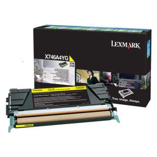 Original Lexmark X746A4YG toner cartridge - government TAA yellow
