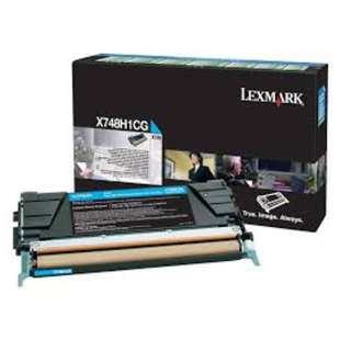 Original Lexmark X748H1CG toner cartridge - high capacity cyan