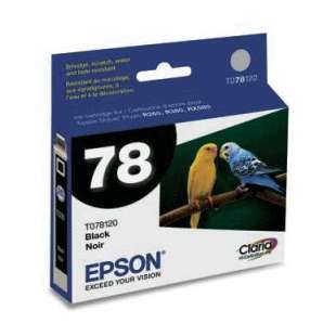 Original Epson T078120 (78 ink) high quality inkjet cartridge - black cartridge