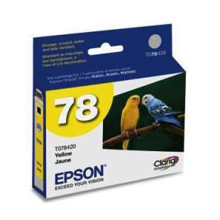 Original Epson T078420 (78 ink) high quality inkjet cartridge - yellow