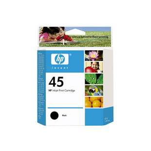 Original Hewlett Packard (HP) 51645A (HP 45 ink) high quality inkjet cartridge - black cartridge