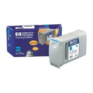 Original Hewlett Packard (HP) 80 high quality inkjet cartridge - cyan