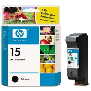 Original Hewlett Packard (HP) C6615 (HP 15 ink) high quality inkjet cartridge - black cartridge