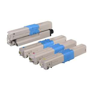 High Quality Compatible Okidata 46507504 / 46507503 / 46507502 / 46507501 toner cartridges - 4-pack