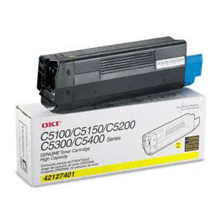 Original Okidata 42127401 toner cartridge - high capacity yellow