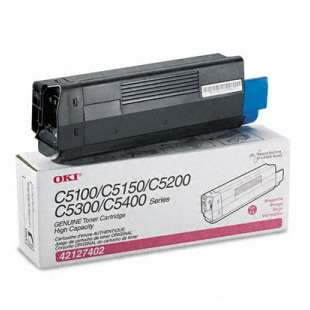 Original Okidata 42127402 toner cartridge - high capacity magenta