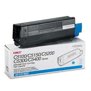 Original Okidata 42127403 toner cartridge - high capacity cyan
