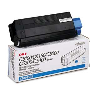 Original Okidata 42804503 toner cartridge - cyan