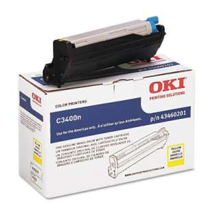 Original Okidata 43460201 toner cartridge - yellow