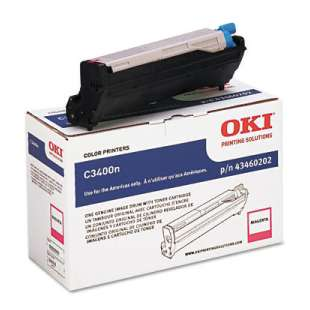Original Okidata 43460202 toner cartridge - magenta