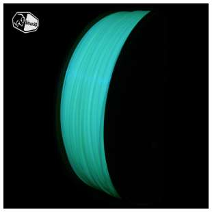 3D Filament (Bison3D brand) for 3D Printing, 1.75mm, 1kg/roll, Glow in the Dark (PLA)