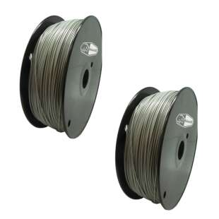2 PACK Bison3D Filament for 3D Printing, 1.75mm, 1kg/Roll, Gray (PLA)