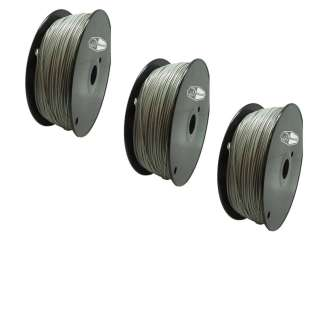 3 PACK Bison3D Filament for 3D Printing, 1.75mm, 1kg/Roll, Gray (PLA)