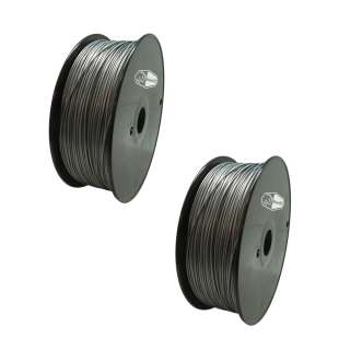 2 PACK Bison3D Filament for 3D Printing, 1.75mm, 1kg/roll, Silver (PLA)
