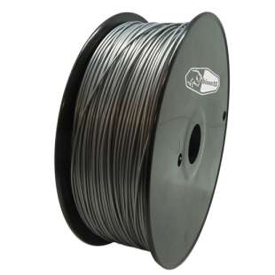 3D Filament (Bison3D brand) for 3D Printing, 1.75mm, 1kg/roll, Silver (PLA)