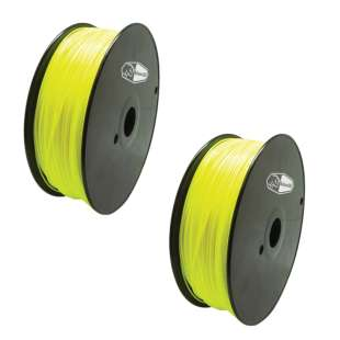 2 PACK Bison3D Filament for 3D Printing, 1.75mm, 1kg/Roll, Yellow (PLA)