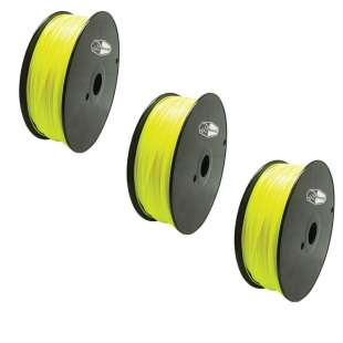 3 PACK Bison3D Filament for 3D Printing, 1.75mm, 1kg/Roll, Yellow (PLA)