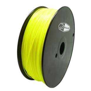 3D Filament (Bison3D brand) for 3D Printing, 1.75mm, 1kg/roll, Yellow (PLA)