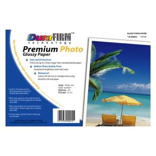 Postcard size DuraFirm Technology Photo Paper (25 sheets per pack)