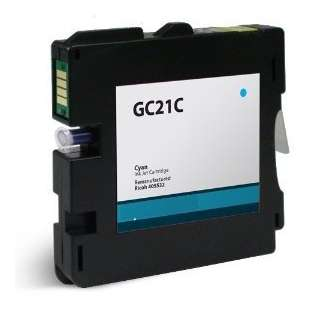 Compatible ink cartridge guaranteed to replace Ricoh 405533 (GC21C) - cyan
