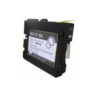 Compatible ink cartridge guaranteed to replace Ricoh 405688 (GC31BK) - black cartridge