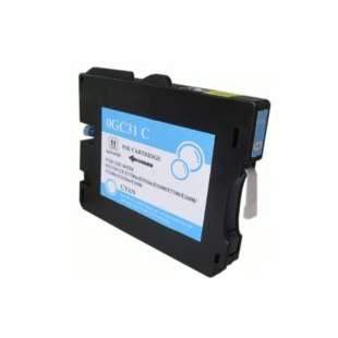 Compatible ink cartridge guaranteed to replace Ricoh 405689 (GC31C) - cyan