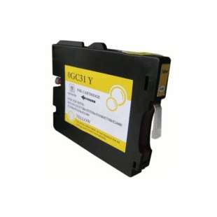Compatible ink cartridge guaranteed to replace Ricoh 405691 (GC31Y) - yellow