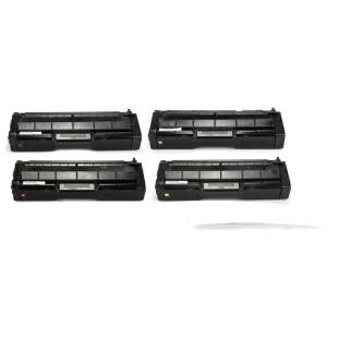 Compatible Ricoh 406046 / 406047 / 406048 / 406044 toner cartridges - 4-pack