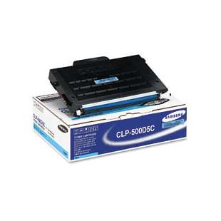 Original Samsung CLP-500D5C toner cartridge - cyan
