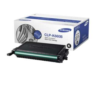 Original Samsung CLP-K660B toner cartridge - 5500 pages - black cartridge