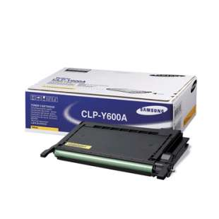 Original Samsung CLP-Y600A toner cartridge - yellow