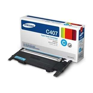 Original Samsung CLT-C407S toner cartridge - cyan