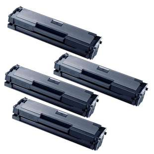 Compatible Samsung MLT-D111S toner cartridges - black - 4-pack