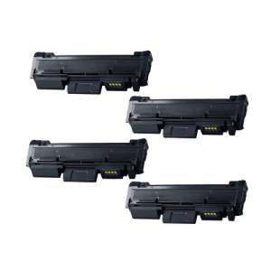 Compatible Samsung MLT-D118L toner cartridges - black - 4-pack