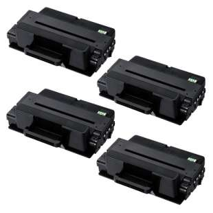 Compatible Samsung MLT-D205L toner cartridges - high capacity black - 4-pack