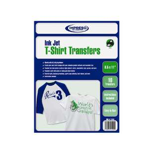 T-Shirt Transfer Sheets with Superior Photo Quality (8.5 x 11 inches, 10 sheets / pack)