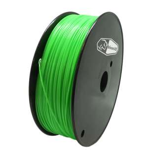 3D Filament (Bison3D brand) for 3D Printing, 1.75mm, 1kg/roll, Green (TYPLA)