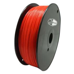 3D Filament (Bison3D brand) for 3D Printing, 1.75mm, 1kg/roll, Red (TYPLA)