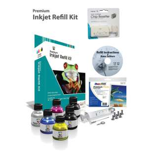 Durafirm Ink Refill Kit - 4 Color Kit for Epson - black cartridge, Color, Epson cartridge chip resetter