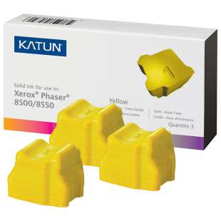Compatible Xerox 108R00671 solid ink sticks - 3 yellow