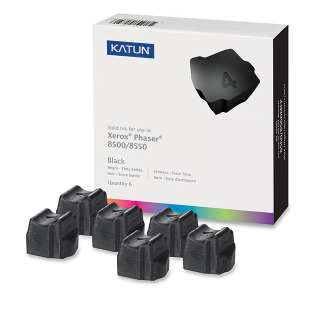 Compatible Xerox 108R00672 solid ink sticks - 6 black