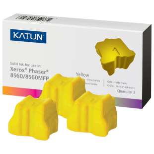 Compatible Xerox 108R00725 solid ink sticks - 3 yellow